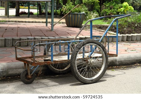 Thai wheelbarrow tricycle