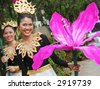 Thai women in traditional dress during in a parade, Phuket, Thailand - EDITORIAL - stock photo