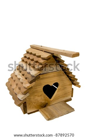 Thai wooden bird cages. - stock photo