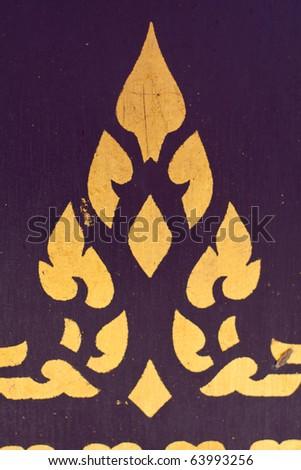 Thai writing patterns. Art, culture, writing mural - stock photo