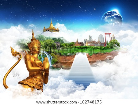 "Thailand bangkok concept ""Elements of this image furnished by NASA"" - stock photo"
