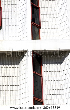 thailand  bangkok   palaces  temple   abstract    in the  concrete    brick  shadow angle