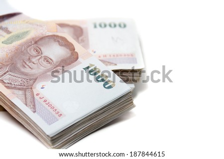 Thailand bank notes 200 thousands