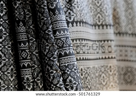 Thailand black fabric