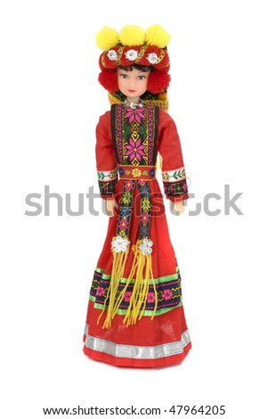 thailand doll with traditional clothes - stock photo