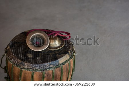 Thailand drums with cymbals - stock photo