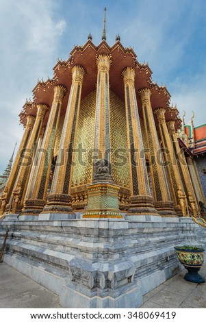 Thailand enchanting beauty of the temple is beautiful.  - stock photo