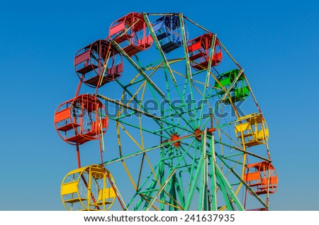 Thailand Ferris wheel old style. - stock photo