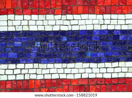 Thailand Flag in Mosaic - stock photo