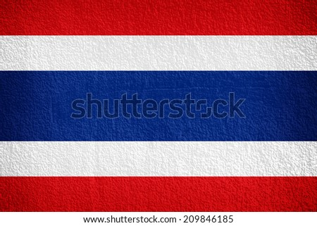 Thailand Flag painted on grunge wall  - stock photo