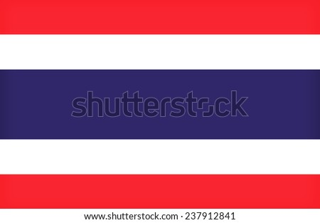 Thailand flag pattern - stock photo