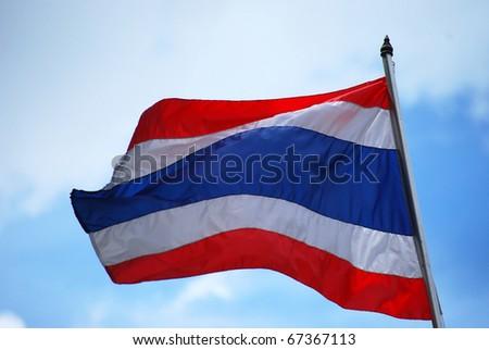 Thailand Flag Wave Flying - stock photo