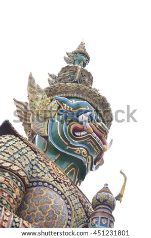 Thailand giant with white background. - stock photo