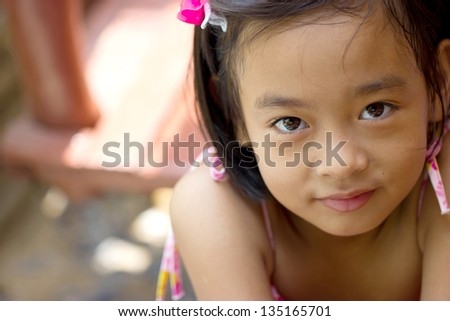 Thailand girls, ages love. - stock photo