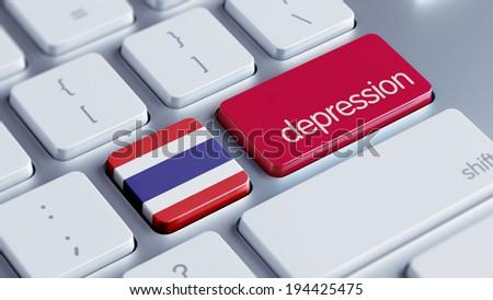 Thailand High Resolution Depression Concept - stock photo