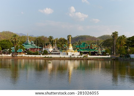 Thailand historical temple in Chiang Mai Thailand - stock photo