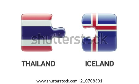 Thailand Iceland High Resolution Puzzle Concept