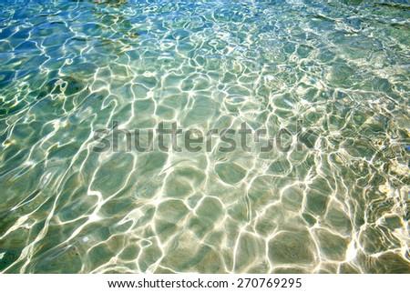 thailand in water  kho tao bay abstract of a blue lagoon   south china sea - stock photo