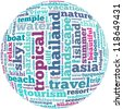 Thailand info-text graphics and arrangement concept on white background (word cloud) - stock