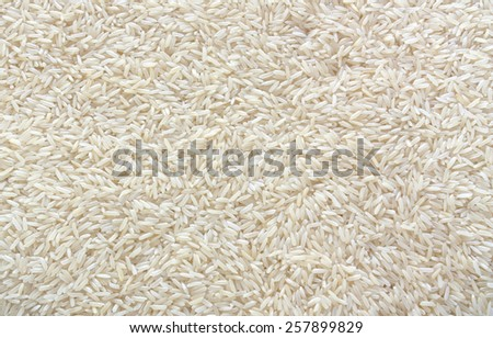 Thailand Jasmine rice A grade of Thailand is rice with beautiful, soft, delicious, several vitamins that most people eat because they are beautiful. Delicious. soft,., white. Thailand's exports. - stock photo
