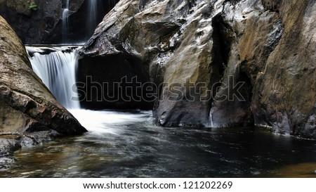 Thailand, Koh Chang, Klong Nonsi Waterfall - stock photo