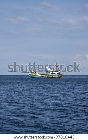 Thailand, MU KOH ANGTHONG National Marine Park, local fishing boat