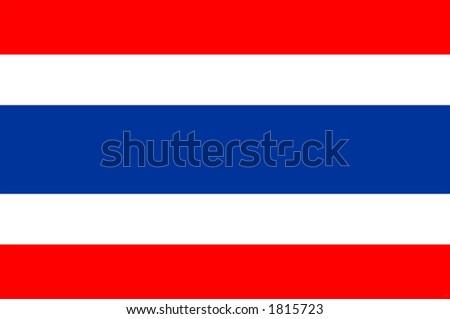 Thailand national flag, Bangkok, asia - stock photo