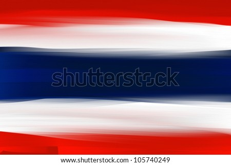 Thailand national hand painted flag