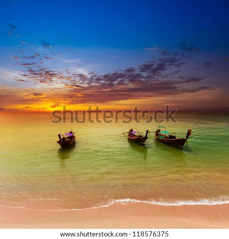 Thailand nature landscape. Tourism background with sea beach. Holiday journey destination - stock photo