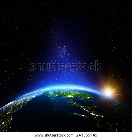 Thailand night. Elements of this image furnished by NASA - stock photo