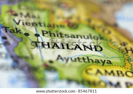 Thailand on the Map. - stock photo