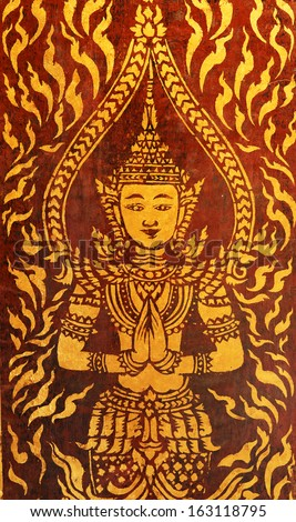 Thailand Painting beliefs of Buddhism