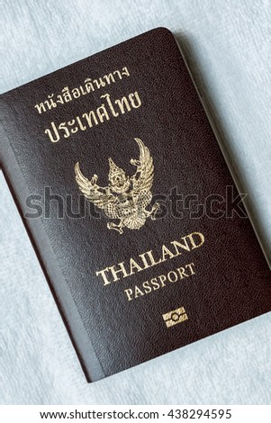Thailand passport is an important document on the whites.