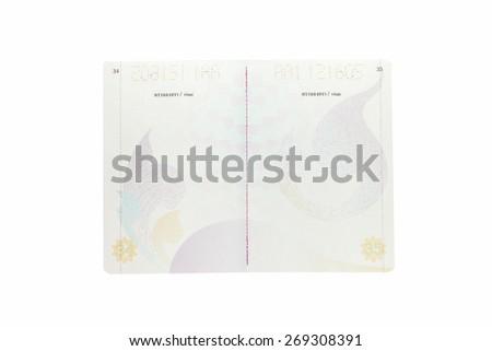 Thailand Passport isolated on white background - stock photo