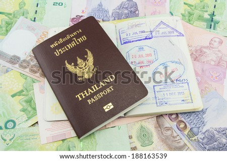 Thailand Passport on Thailand Banknotes