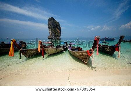 Thailand, perfect beach, tropical beach - stock photo