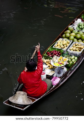 Thailand River market - stock photo