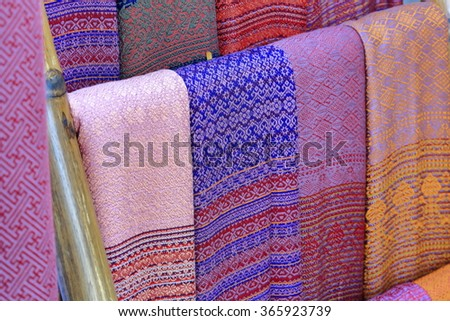 Thailand silk - stock photo