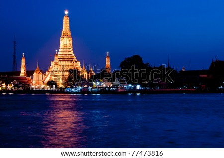 Thailand temple in the Twilight time