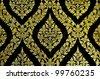 Thailand temple pattern thai mural on church wall, Thailand Thai art wall pattern illustrations - stock photo
