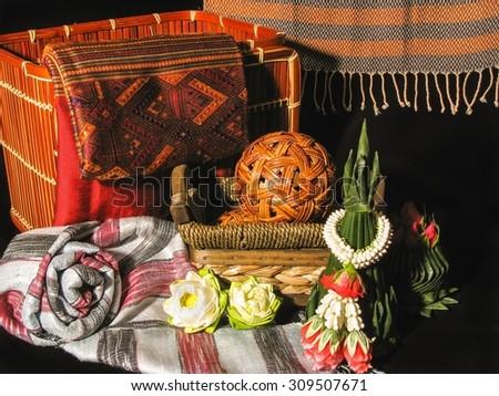 Thailand traditional fabric and basketwork - Still Life Style