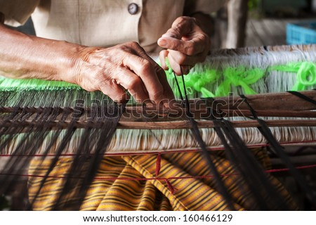 Thailand traditional weaving - stock photo