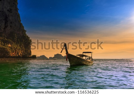 Thailand tropical nature beautiful landscape. Sea cost touristic background - stock photo