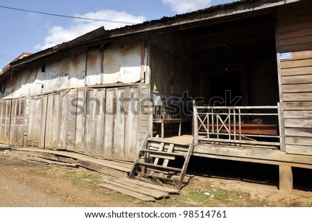 Thailand Village Outdoor Local Country House - stock photo