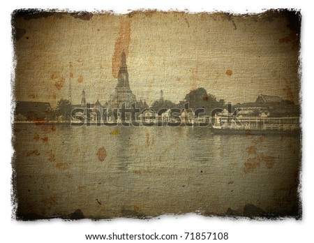 thailand vintage photo paper - stock photo