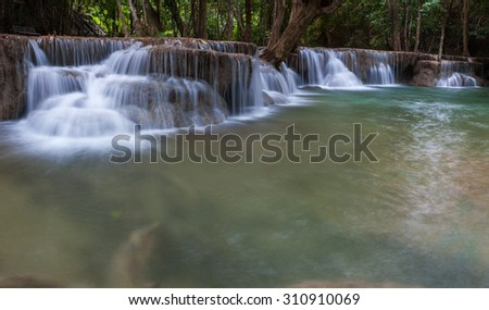 Thailand waterfall in deep forest