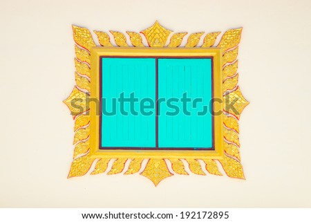 ThailandDoor Frame Isolated - stock photo