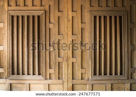 Thainess wood windows - stock photo