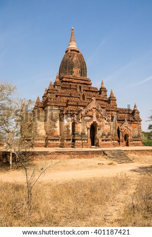 Thambulla Temple north of Minnanthu, Bagan, Myanmar - stock photo