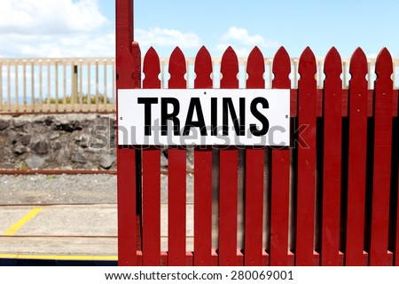 Thames Small Gauge Railway in Thames, New Zealand. - stock photo